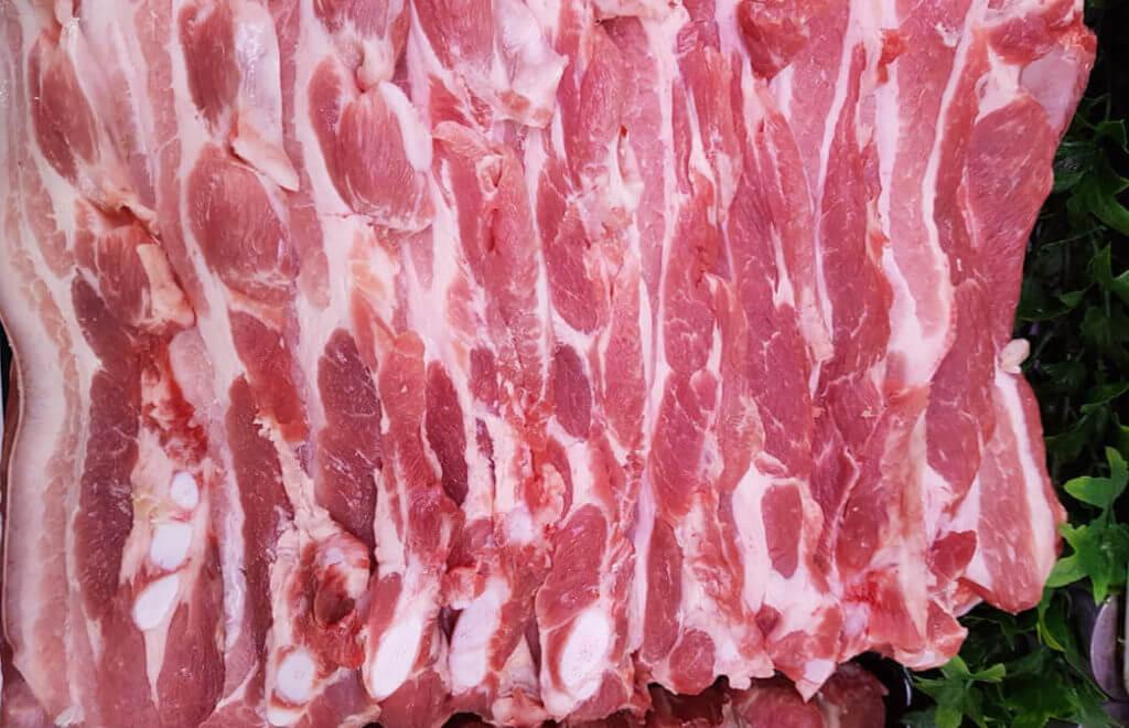 Poitrine de porc à griller - rouste Boucherie Charcuterie Jeannot Esteve à Argelès-sur-mer 66700